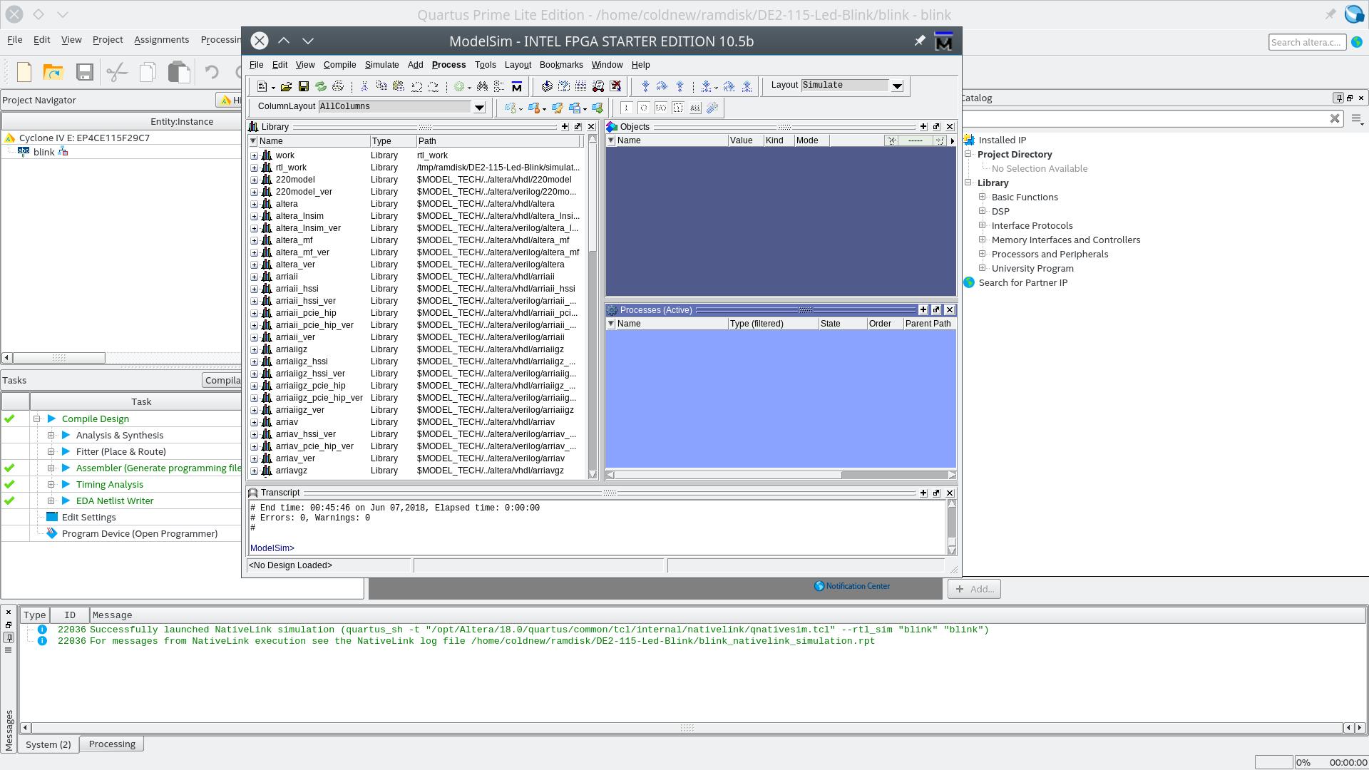 DE2-115 開發紀錄: 在Linux 下使用ModelSim | coldnew's blog