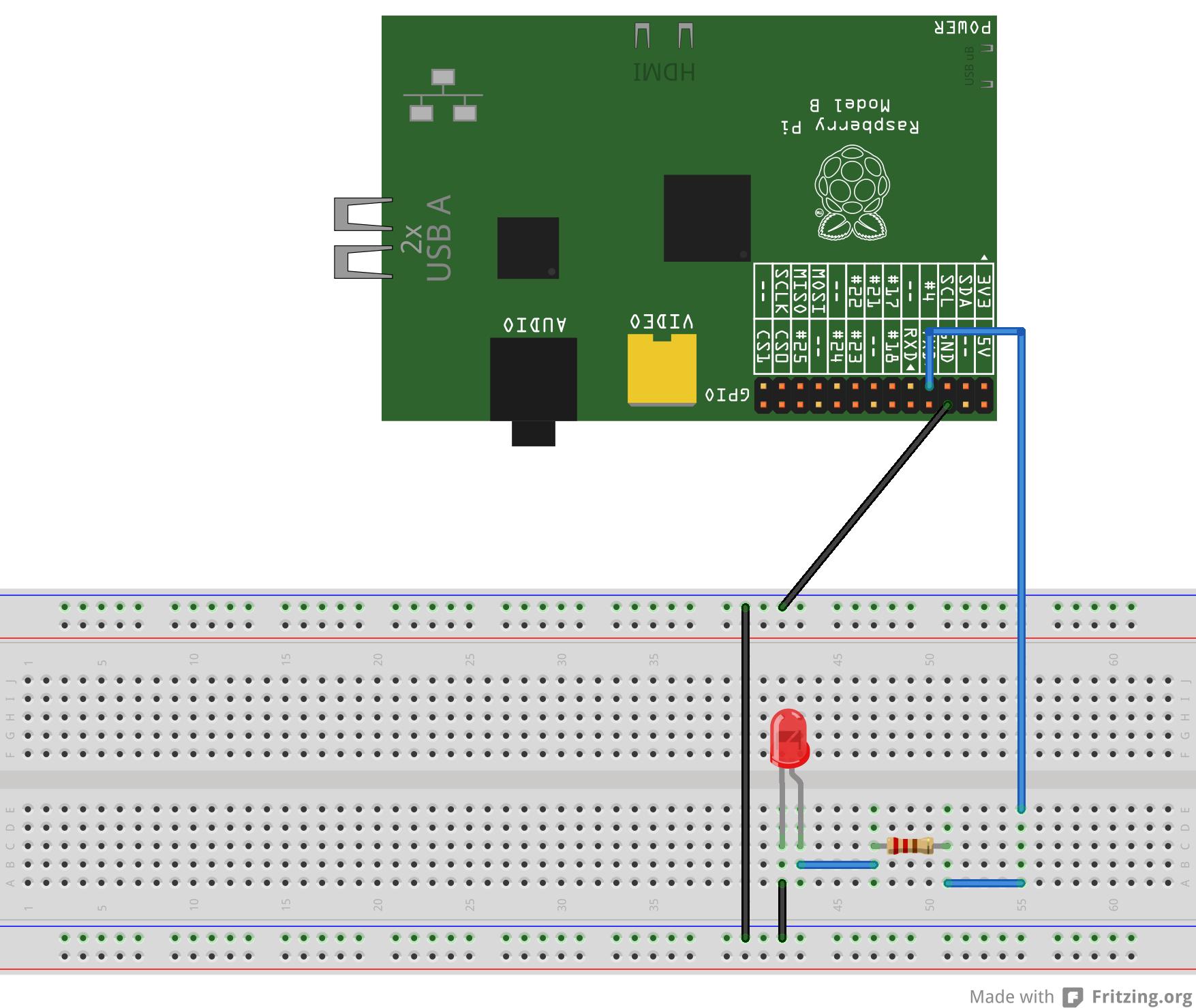 讓你的Raspberry Pi 透過GPIO 閃爍LED 燈| coldnew's blog